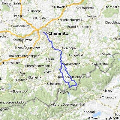 Von Wolkenstein zum Hirtstein und zurück nach Chemnitz