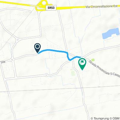 Giro a velocità lenta in Castelfranco Veneto