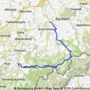 Von Wolkenstein ins Osterzgebirge und im Muldental zurück
