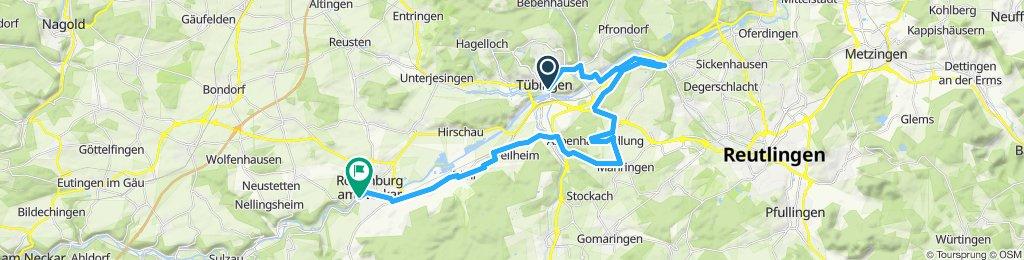 Gemütliche Route in Rottenburg am Neckar