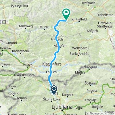 Kranj, Slovenia to Pols, Austria
