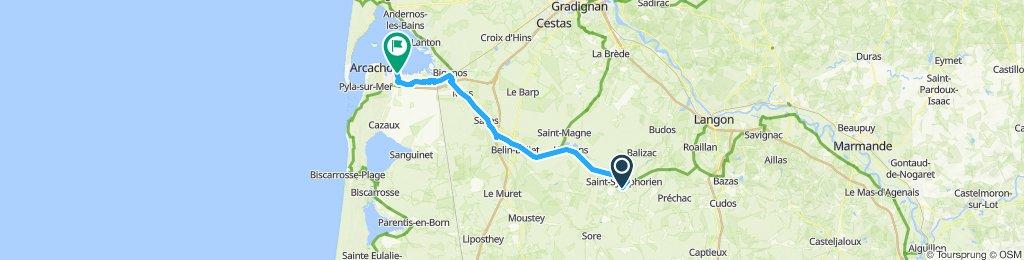 Day 6 - St-Symphorien - La Hume (Bassin d'Arcachon)