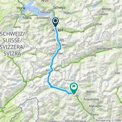 Fluelen -Gotthard Pass Faido National Route 3