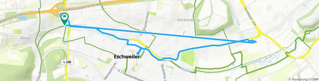 Langsame Fahrt in Eschweiler