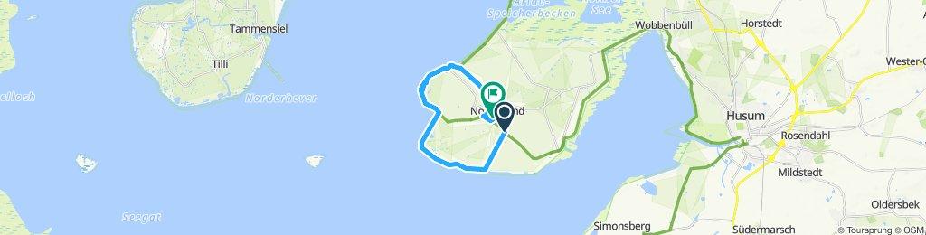 Einfache Fahrt in Nordstrand