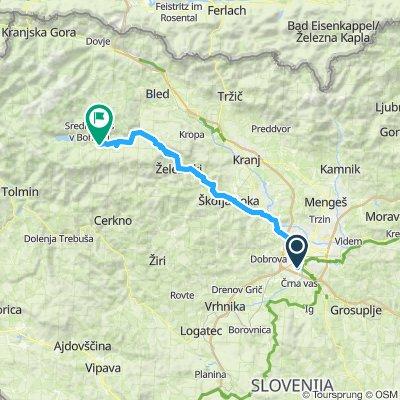 Lj - Boh. Bistrica via Zelezniki - 71km 940m