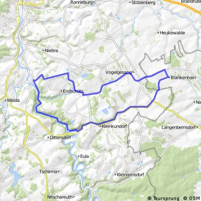 Blankenhain-Berga-Wünschendorf Brauniswalde