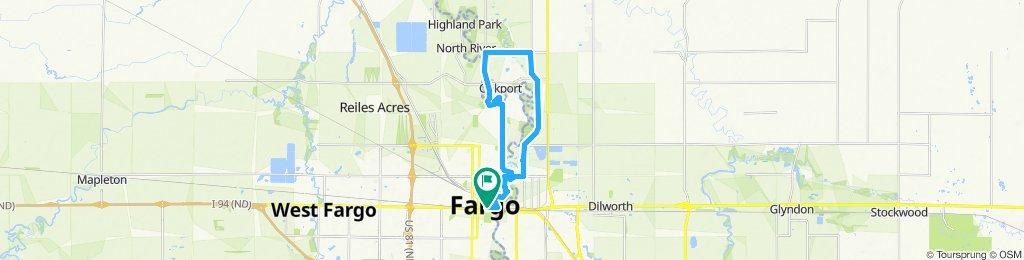 northern downtown fargo to northern moorhead! shoulder riding