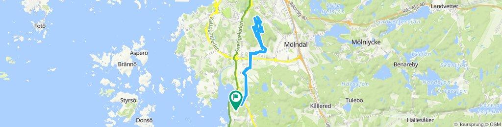 Snail-like route in Göteborg