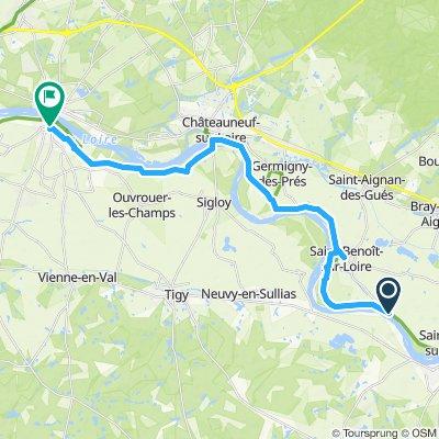 Gemütliche Route in Jargeau