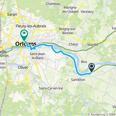Langsame Fahrt in Orléans