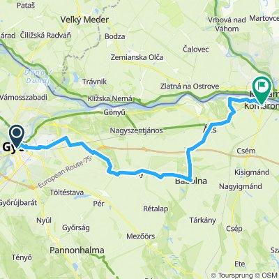 Gyor to Komarom Hungary