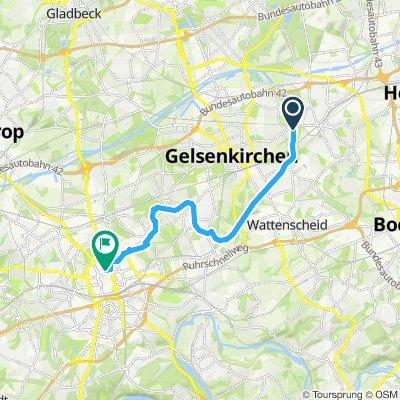 Gelsenkirchen über Zeche Zollverein zur RS1 Essen