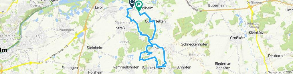 Einfache Fahrt in Nersingen/Raunertshofen