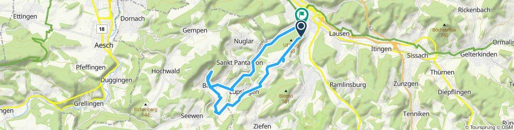 Gerade Fahrt in Liestal