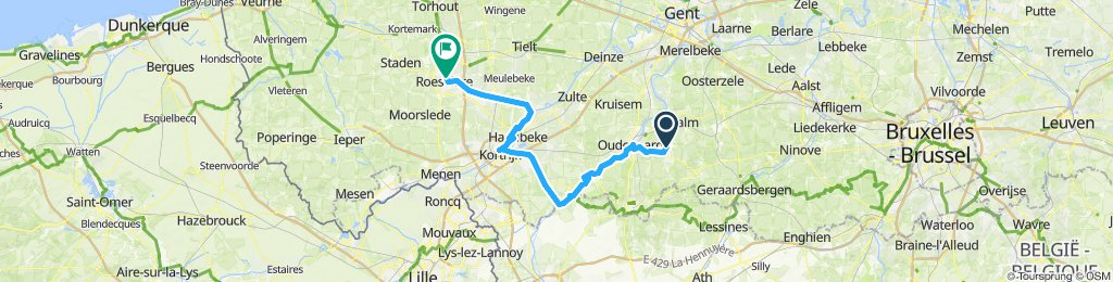 Snail-like route in Roeselare