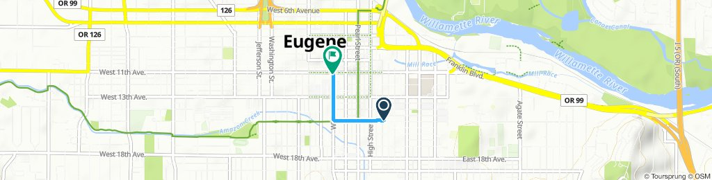 Relaxed route in Eugene