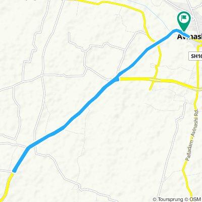 Avinashi to vadugapalayam bridge to home