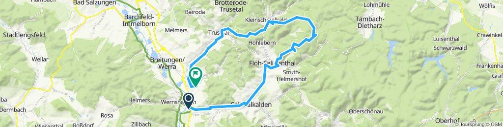 Wernshausen- Ebertswiese- Hohe Warte KSM- Auwallenburg-Fambach