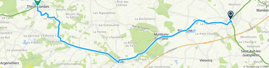 Stage 9 Illiers-Combray to Thiron-Gardais
