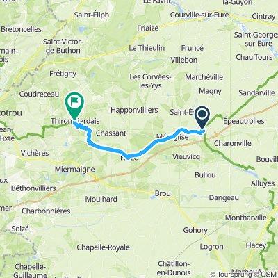 Stage 9 Illiers-Combray to Thiron-Gardais