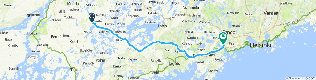 Snail-like route in Espoo