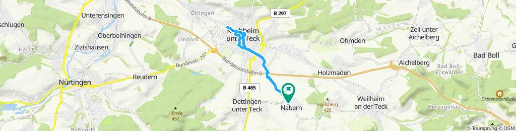 Gemütliche Route in Kirchheim unter Teck