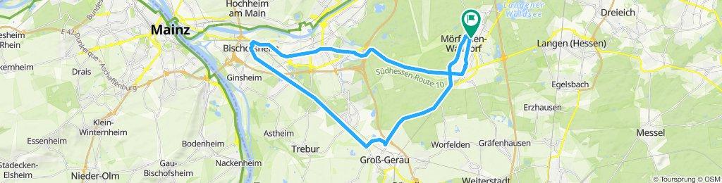 40 km Rennrad von Walldorf