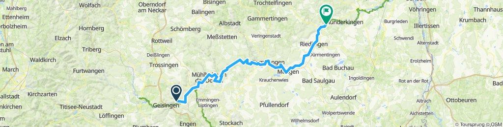 Zimmern - Rottenacker (Donauradweg)