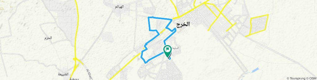 Moderate route in الخرج