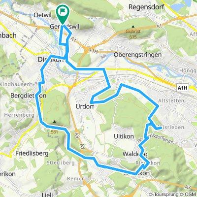 Route aBirmensdorf