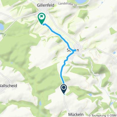 Route im Schneckentempo in Gillenfeld