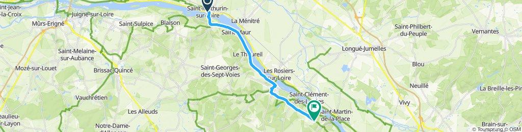 Route im Schneckentempo in Chênehutte-Trèves-Cunault