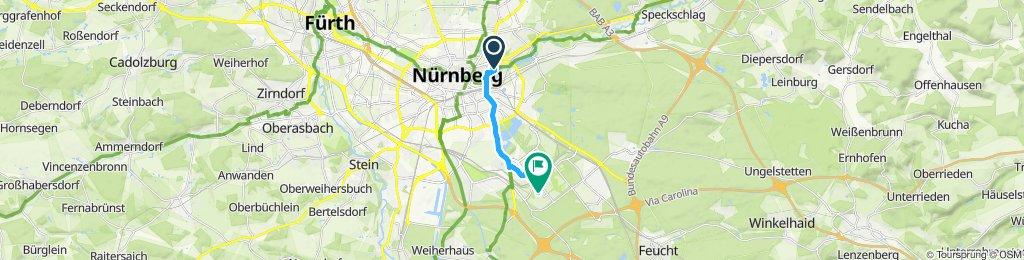 Gemütliche Route in Nürnberg