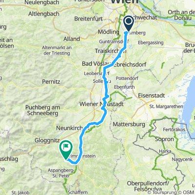 Moderate Route in Feistritz am Wechsel