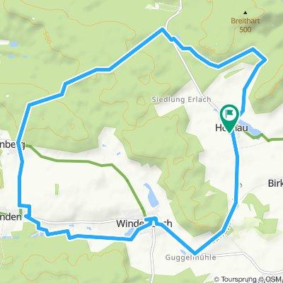 Route im Schneckentempo in Windelsbach