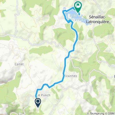 Relaxed route in Sénaillac-Latronquière