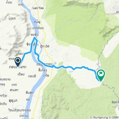 Don Talet Ban Khontout 71 km via Wat Phou
