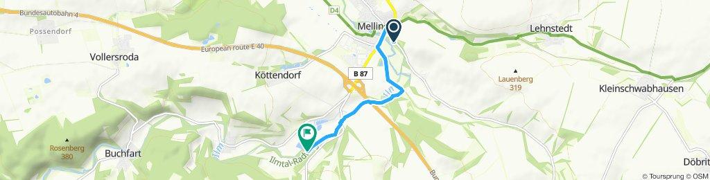Teilstrecke Heimfahrt Jena