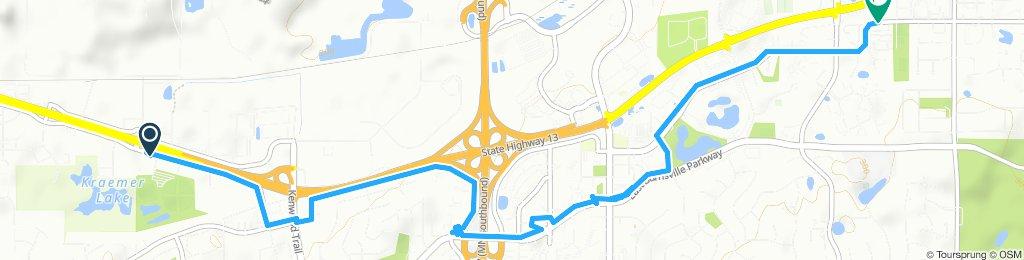 Snail-like route in Burnsville