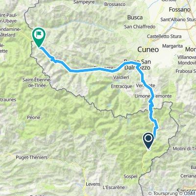 07:07 start Saorge til Argentera 120 km ca 91/2 time