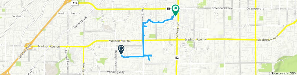 Moderate route in Citrus Heights