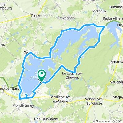 50 KM tour du lac d'orient