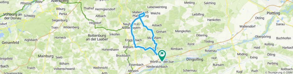 Wörth-Bayerbach-Penk-Oberellenbach-Niederlindhart-Mallersdorf-Neufahrn-Ergoldsbach.-Osterhaun-Wörth