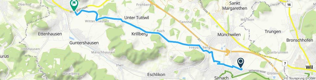 Einfache Fahrt in Aadorf