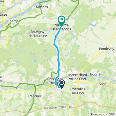 Gemütliche Route in Vallières-les-Grandes