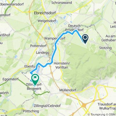 Gerade Fahrt in Zillingdorf-Bergwerk
