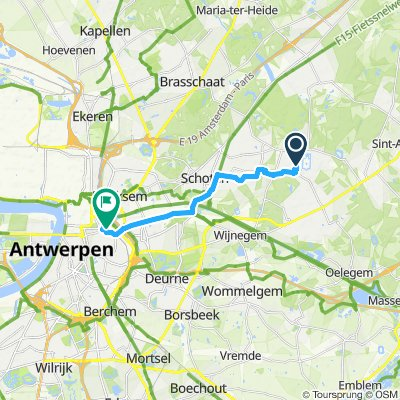 Relaxed route to Antwerpen