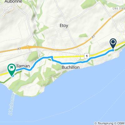 Snail-like route in Allaman