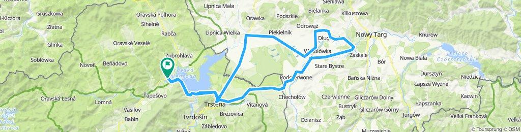 Namestovo-Jablonka-Czarny Dunaj- Trstena-Namestovo
